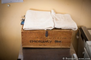 The emergency box (our equivalent to a crash trolley)